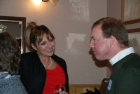 Mike Bloom with hostess Angie Hirschhorn at Bloom For Judge Meet-n-Greet at Smiley's in Lake Tomahawk, WI