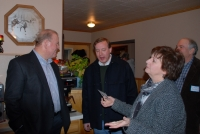 Mike Bloom with Judge Neal Neilsen and his wife Sharon Neilsen at Smiley's Meet-n-Greet in Lake Tomahawk